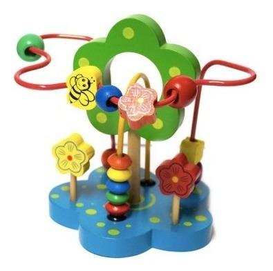 juguete infantil de madera de motricidad diseño flor nuevos
