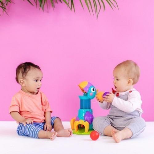 juguete interactivo bebes brightstarts tucan pelotas cuotas