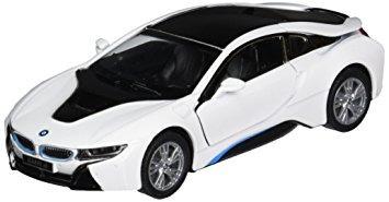 juguete kinsmart bmw i escala super car, blanca