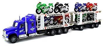 juguete la fricción de la motocicleta de carreras de remolq