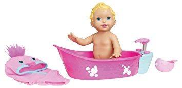 juguete la hora del baño burbujeante little mommy muñeca