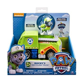 juguete la pata patrol - camión de reciclaje de rocky (trab