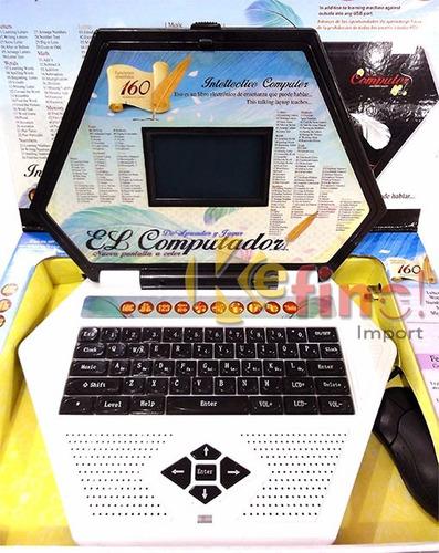juguete laptop portatil computadora aprendizaje a color