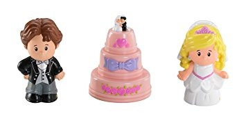 juguete las cifras de la boda de fisher-price little people