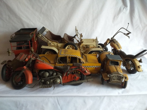 juguete lata antiguedad coleccion moto auto carcochita