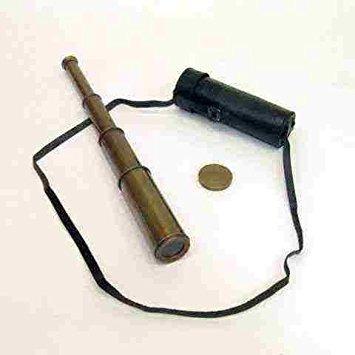 juguete latón antiguo réplica telescopeantique finalizar y