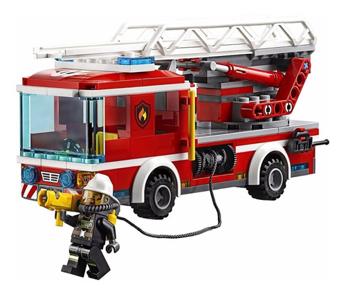 juguete lego city para niños: camión bomberos. bloques lego