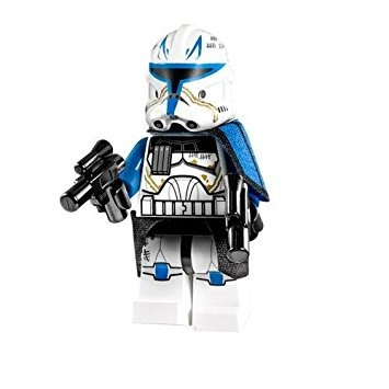 juguete lego star wars clone minifigure capitán rex (2013)