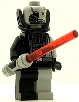 juguete lego star wars darth vader minifig batalla dañado