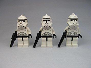 juguete lego star wars episodio 3 soldado clon del lote (x3