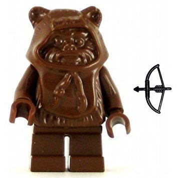 juguete lego star wars ewok minifig marrón capucha