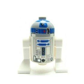 juguete lego star wars mini figura - r2-d2 (cabeza gris) as