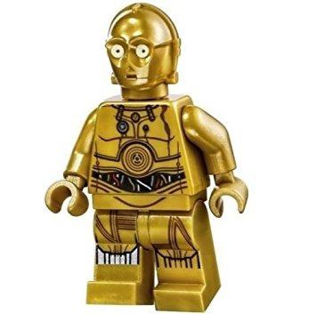 juguete lego star wars minifigure - piernas c-3po impresos