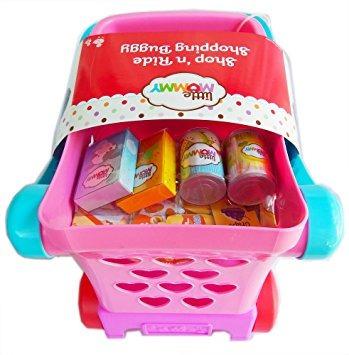 juguete little mommy ride'n drive carrito de compra, 4 acce
