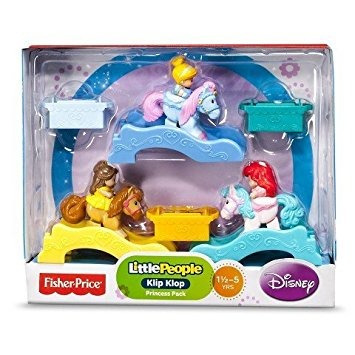 juguete little people, disney princess, klip klop set, prin