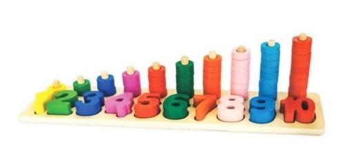 juguete logarítmico números torres didáctico montessori