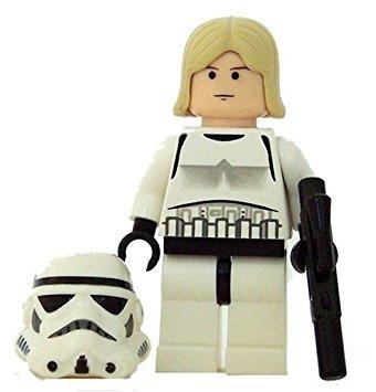 juguete luke skywalker en stormtrooper disfraz (carne de lu