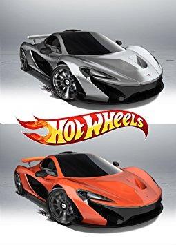 juguete mclaren p1 set of hot wheels 2 cars orange + silver