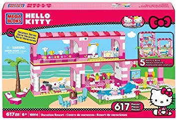 juguete mega bloks hello kitty vacation resort