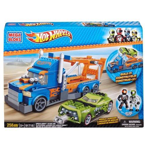 juguete mega bloques hot wheels urban agent stunt rig
