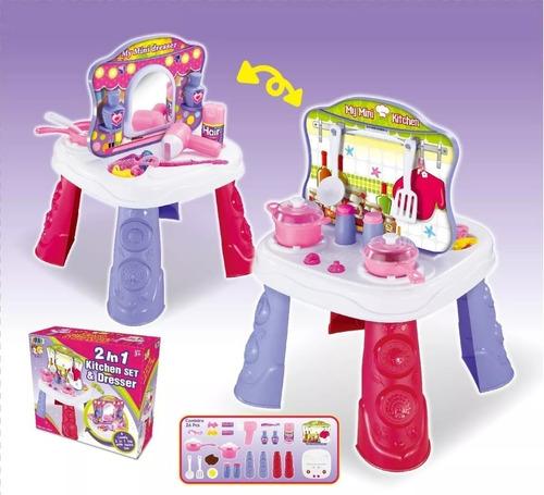 juguete mesa didactica cocina belleza herramientas cuotas