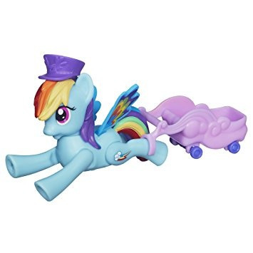 juguete mi pequeño pony zoom n go rainbow dash muñeca