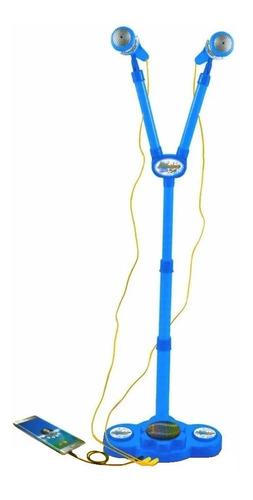juguete microfono infantil doble musica luces babymovil