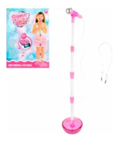 juguete micrófono infantil luz,sonido, mp3 karaoke infantil