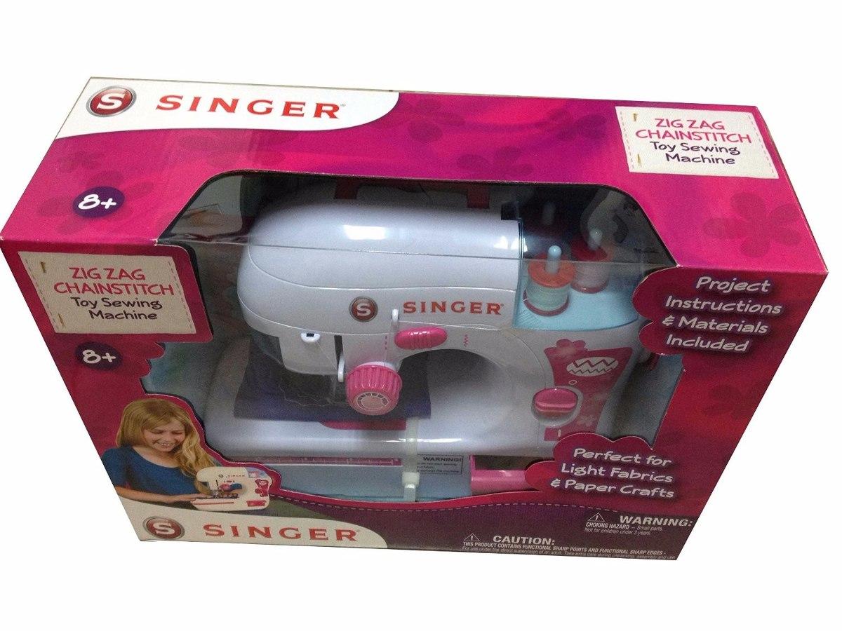 Juguete Mini Maquina De Coser Singer Zigzag Juego