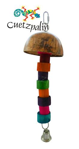 juguete modelo champiñon para loros, pericos