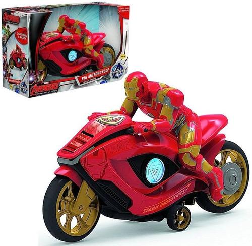 juguete moto a friccion iron man avengers grande babymovil