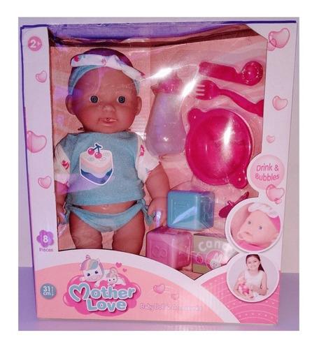 juguete muñeca bebe bebote 31cm accesorios mother love