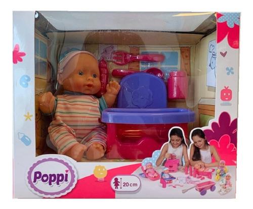 juguete muñeca bebe bebote con sillita poppi babymovil 28070
