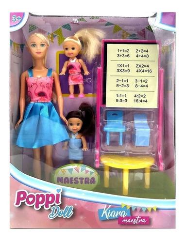 juguete muñeca kiara maestra accesorios poppi babymovil b182