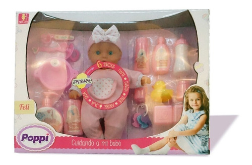 juguete muñeca poppi cuidando a mi bebe babymovil 1708