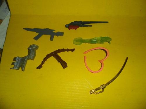 juguete muñeco sable arma ballesta fusil miniatura ametralla