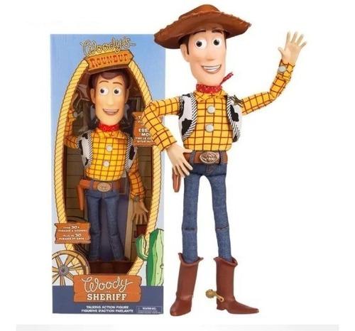 juguete muñeco woody toy story habla 19 frases en ingles