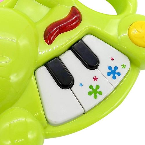 juguete musical con luz conejo piano primera infancia poppi