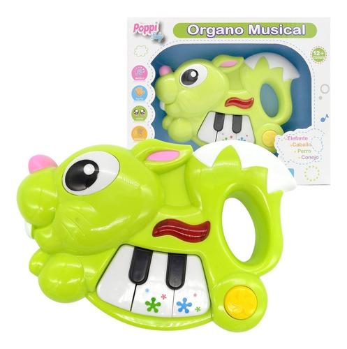 juguete musical piano conejo con luz primera infancia poppi