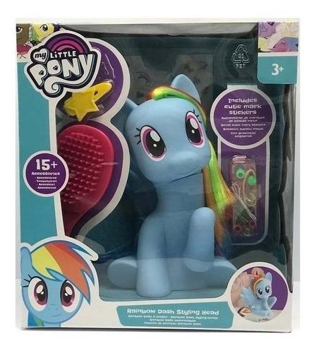 juguete my little pony para peinar y decorar 17cm babymovil