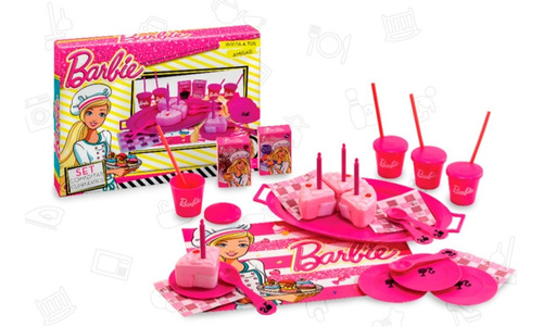 juguete nena barbie set comiditas cumpleaños accesorios 135