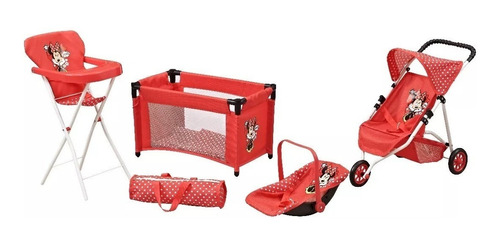 juguete nena set de muñeca disney minnie 7452 babymovil
