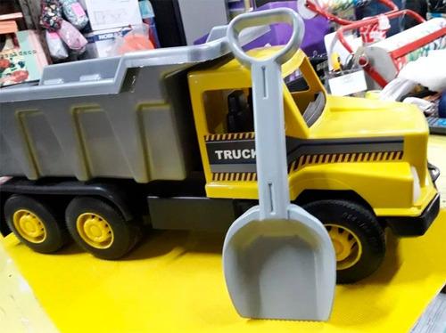 juguete nene camion volcador con pala kumo grande babymovil
