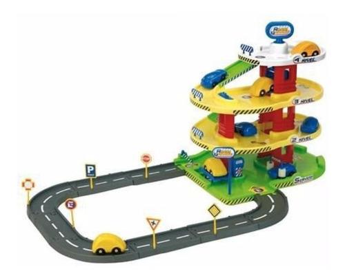 juguete nene garage 4 niveles rondi pista ascensor autos