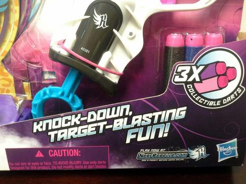 juguete nerf rebelle knock down pistola de mujer