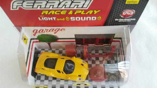 juguete niño ferrari enzo 1/43  luz y sonido motor  burago