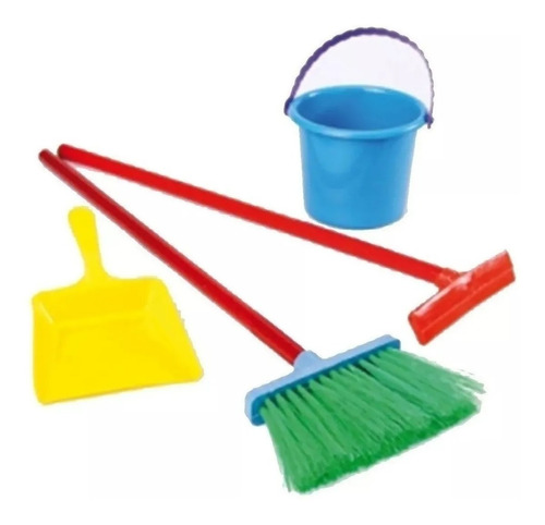 juguete niño set limpieza con balde new plast 178 babymovil
