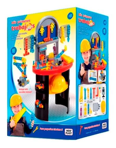juguete niño taller banco herramientas new plast accesorios