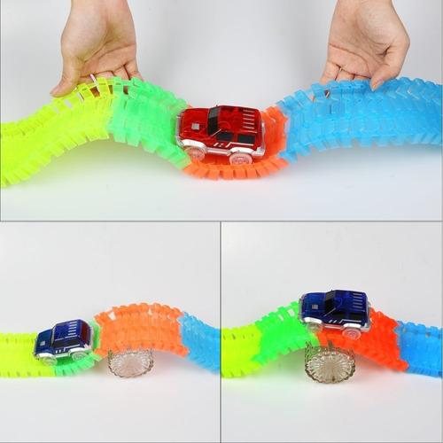 juguete niños pista autos 165 pzs glow tracks  zaki cuotas