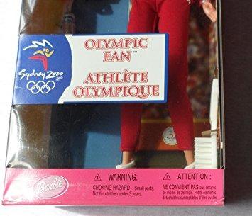 juguete olímpico ventilador muñeca barbie sydney  licencia
